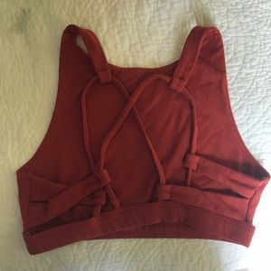 Aerie Burnt Orange sports/relax bra